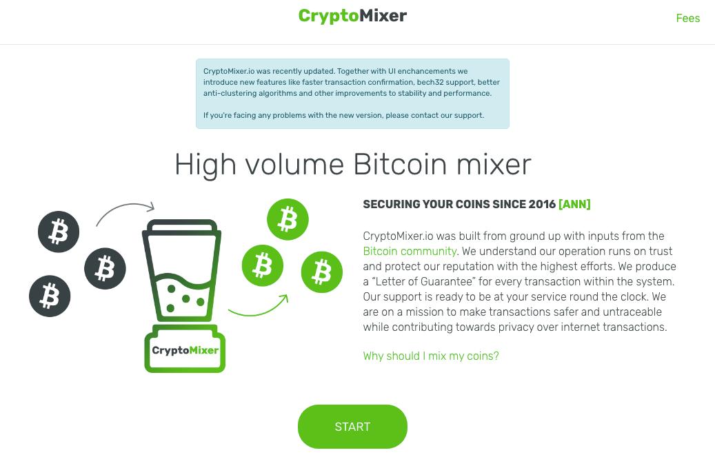 Cryptomixer homepage