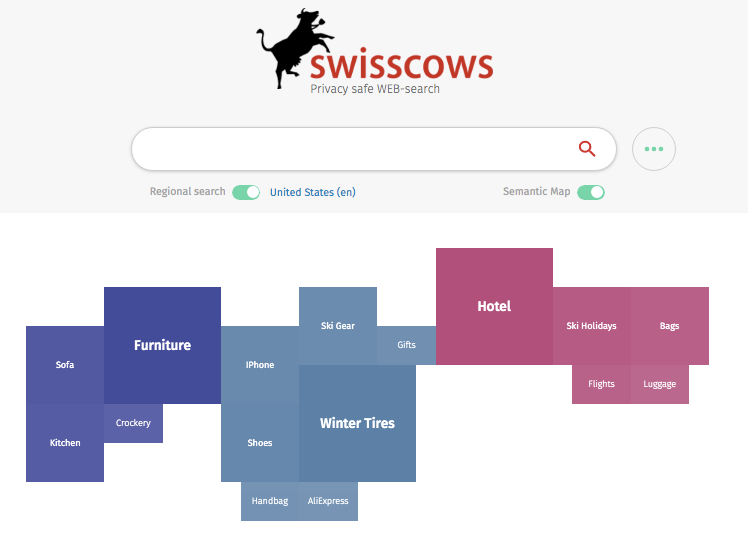 Swisscows home page