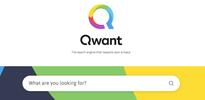 Qwant home page