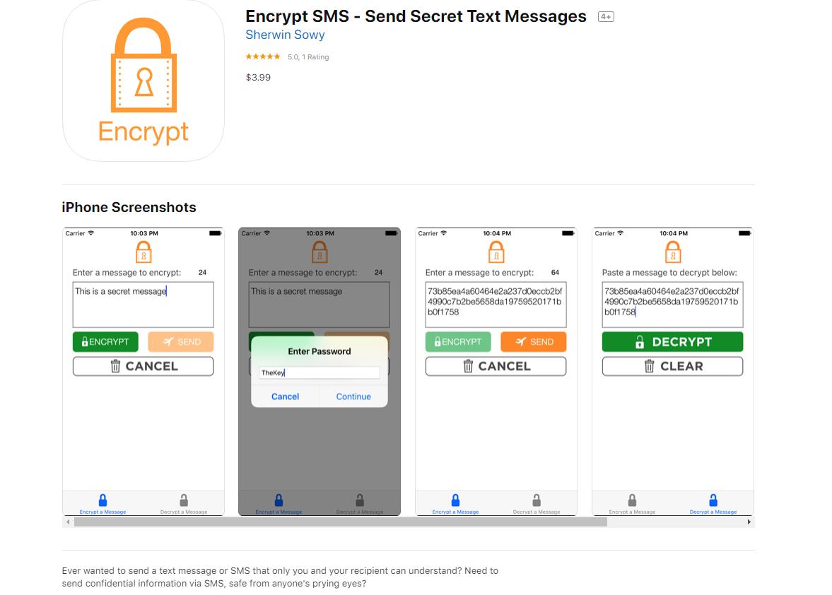 Encrypt SMS app